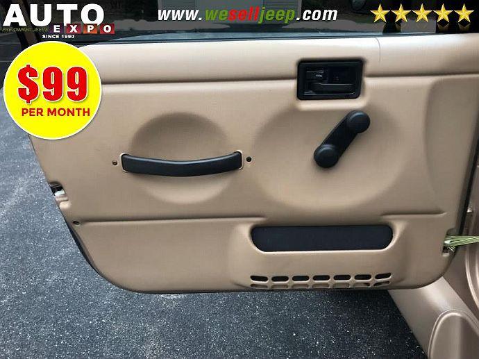 Jeep Decal 2000 JEEP TJ 4.0L Emission Decal